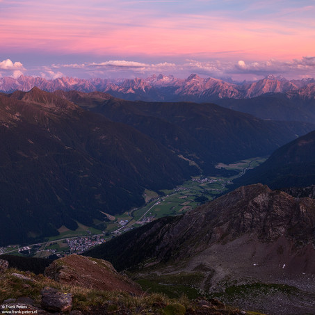 Afterglow, Dolomites and Antholzer Valley, South Tyrol, Italy