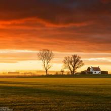 House on Mound Sunrise, Zeeuws-Vlaanderen, Netherlands, 2020