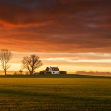 House on Mound Sunrise, Zeeuws-Vlaanderen, Netherlands