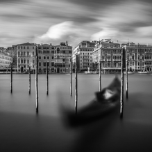 Canal Grande in Black and White, Venice, Italy