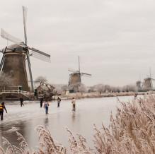 Holland Ice Skating, Kinderdijk, Zuid-Holland, The Netherlands