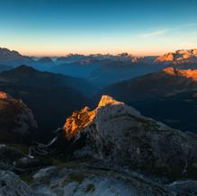 Sunrise, Lagazuoi, Dolomites, Italy