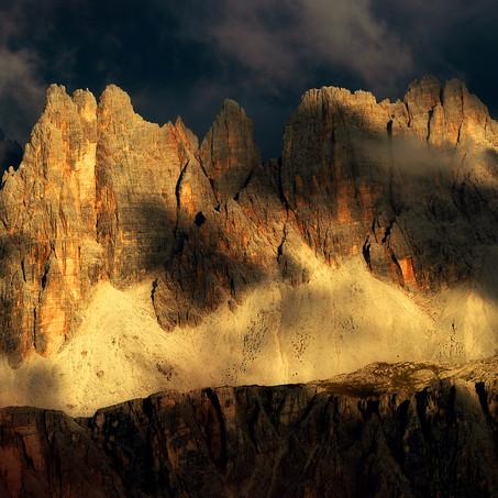 Dolomites Gold, Croda da Lago, Dolomites, Italy