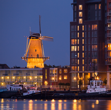 Skyline Dordrecht, Windmill and Apartments, Dordrecht, The Netherlands, 2011