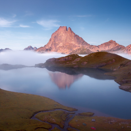 Ossau in Lake Gentau, Refuge Ayous, Pyrenees, France