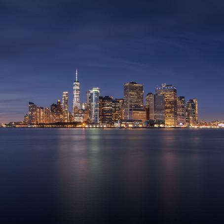 Skyline New York, Manhattan, Governors Island, USA