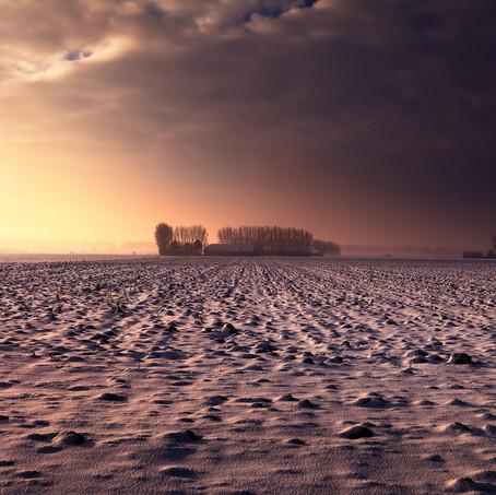 Snow Storm is coming, Zeeuws-Vlaanderen, Netherlands