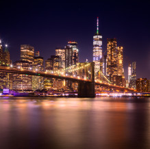 Skyline New York, Manhattan with Brooklyn Bridge, USA