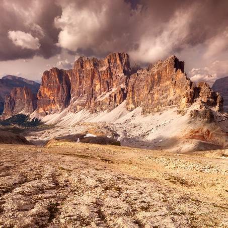 Clouds above Fanes, Dolomites, Italy