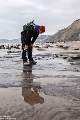 Jurassic Coast guide Martin Curtis looki
