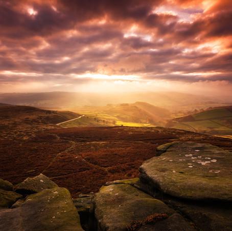Sunset, Higger Tor, Peak District, England