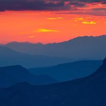 September Sunset, Dolomites, Alps, Italy