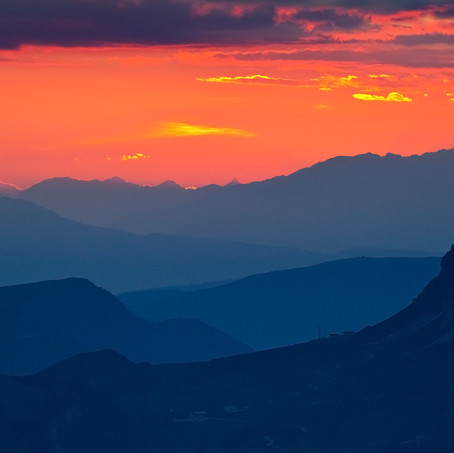 September Sunset, Dolomites, Alps, Italy