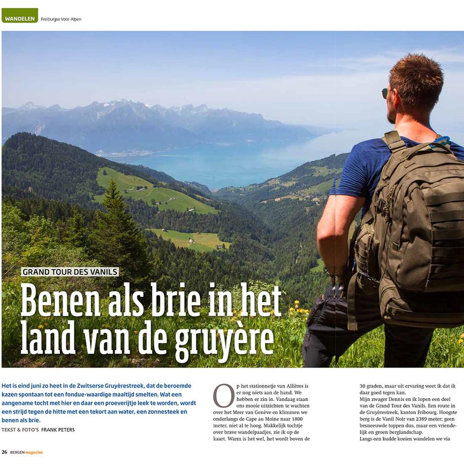'Benen als Brie in het land van de Gruyère' published by Bergen Magazine