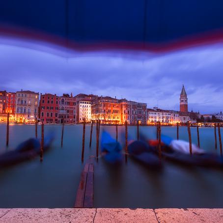 Under the Umbrella, Canal Grande, Venice, Italy