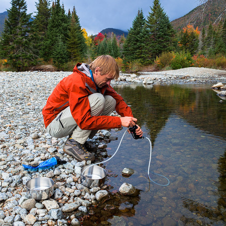 Purifying Water, High Peaks Wilderness, Adirondacks, USA