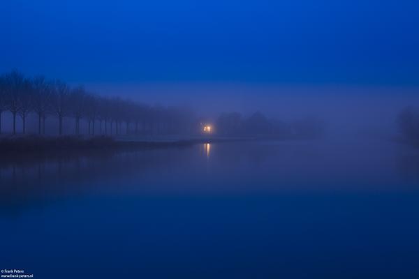 Kreek tijdens schemering, Zeeuws-Vlaanderen
