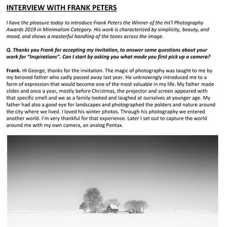 Interview met Frank Peters door George Digalakis