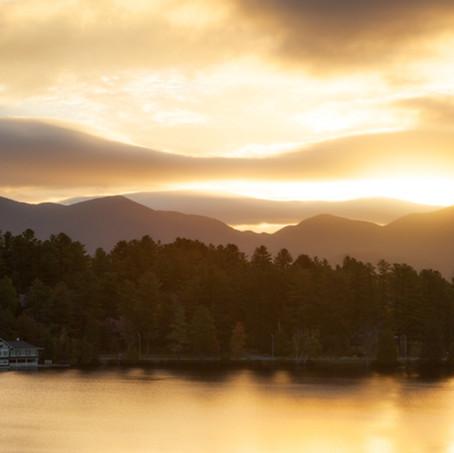 Mirror Lake, Lake Placid, Adirondacks, USA