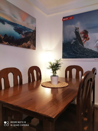 Dinning table in our lounge