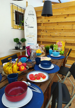Daily homemade breakfast in our patio