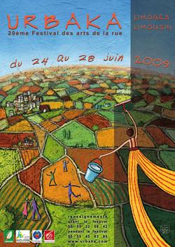 Affiche festival Urbaka 2009