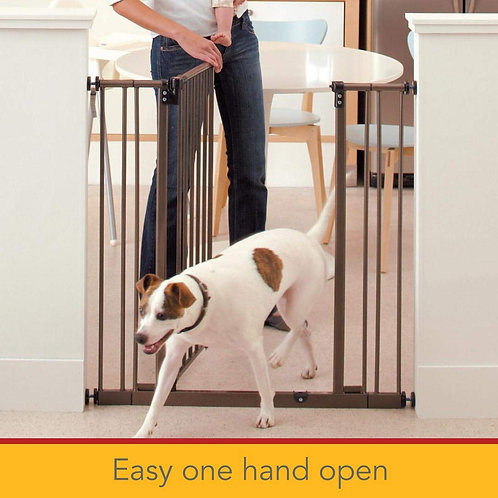 North States Extra Tall Deluxe Easy-Close Pressure Mounted Pet Gate