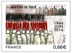 Timbre anniversaire Martyrs de Tulle