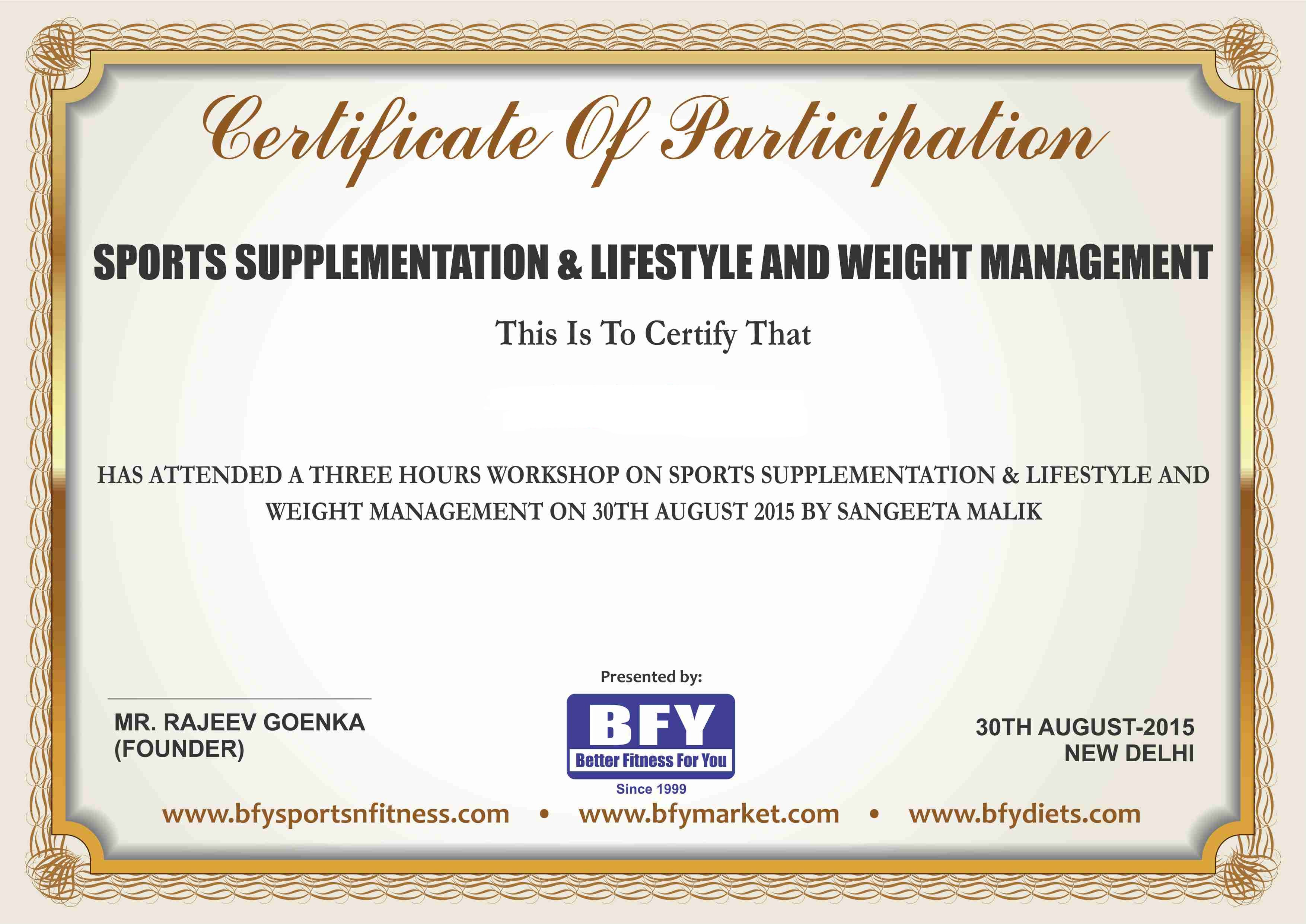 Sample Certificates Bfy Courses Enroll For It Now