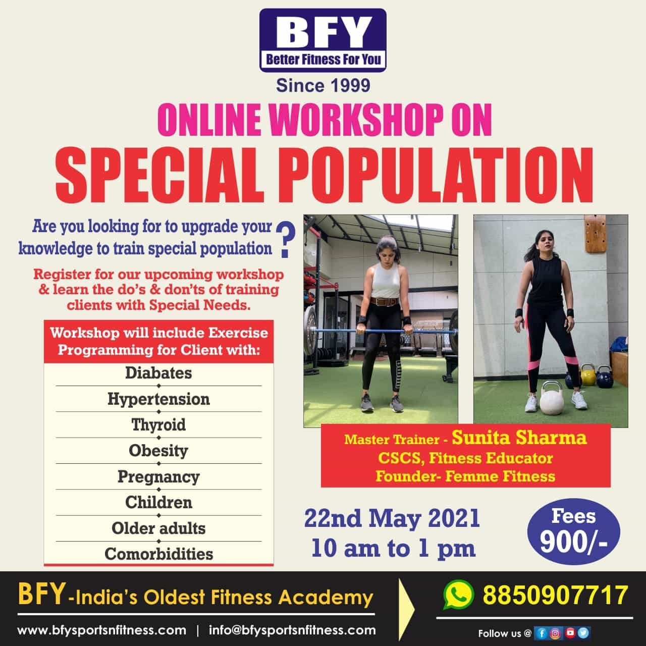 Special Population workshop