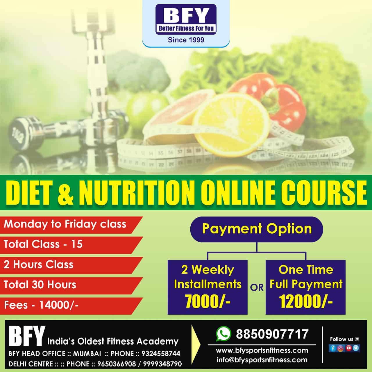 Diet & Nutition Course
