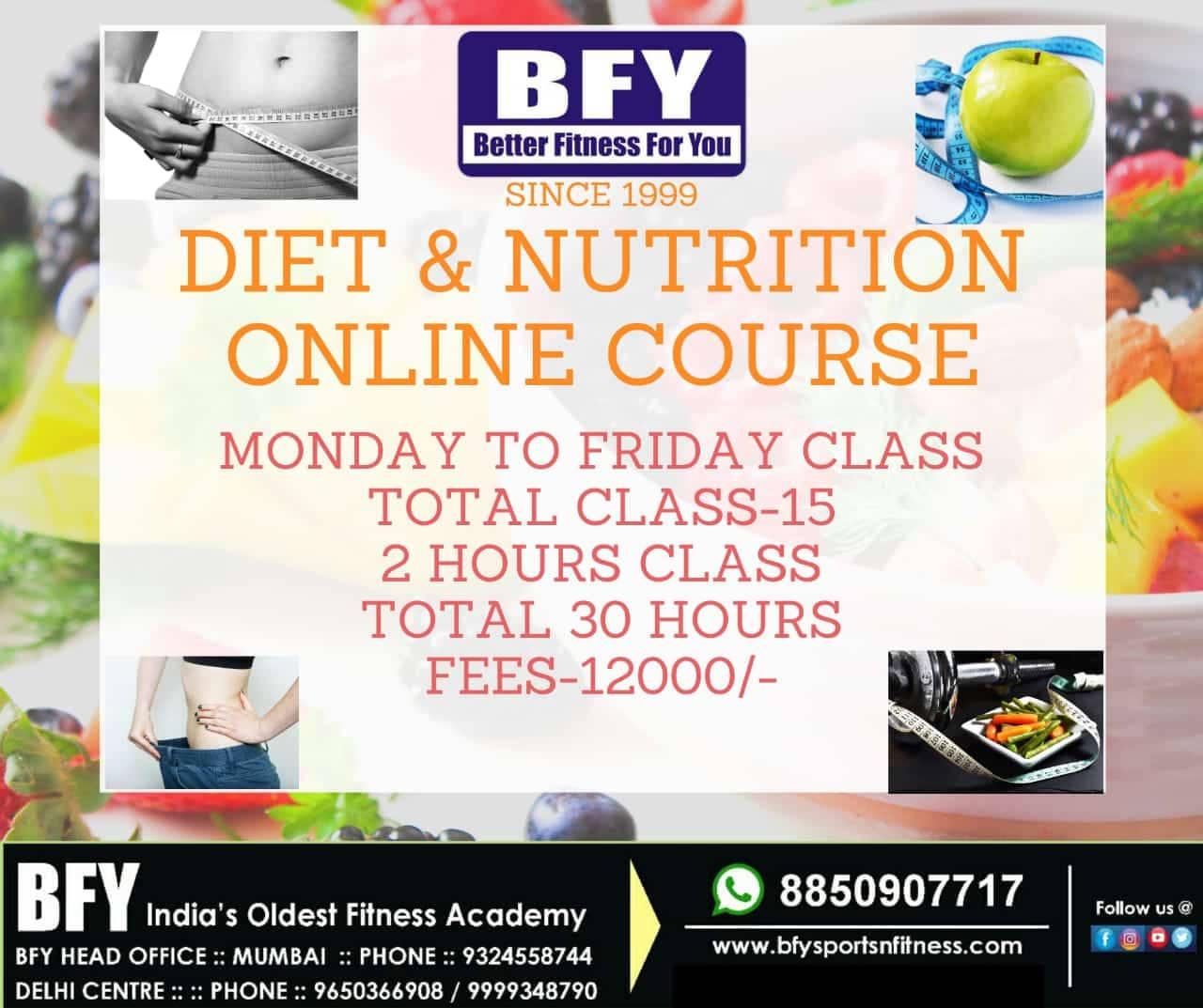Diet & Nutrition Online Course
