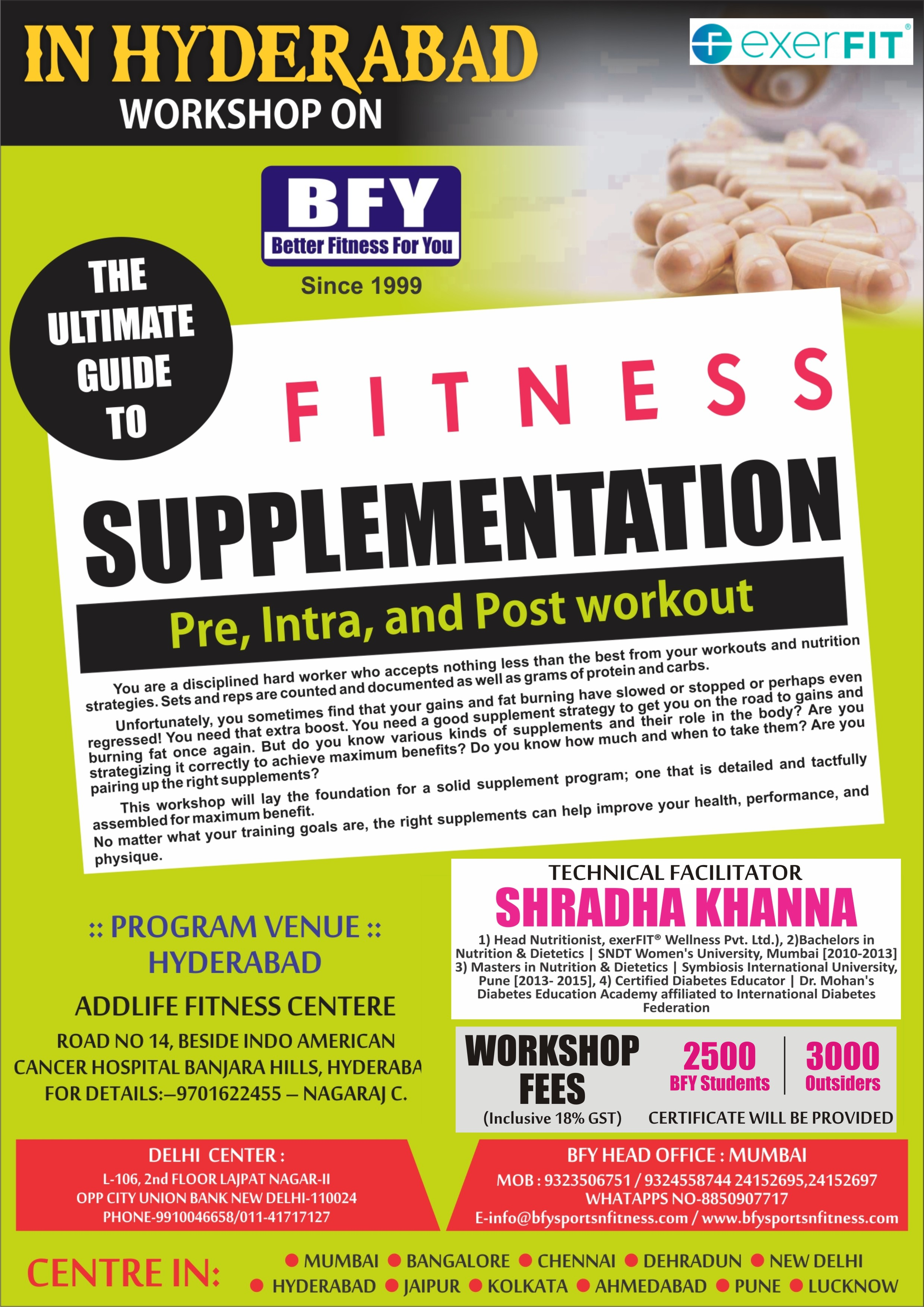 Upcoming | Events | Workshops | BFY Sports and Fitness
