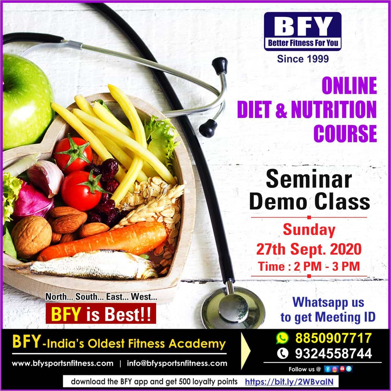 Diet and Nutrition course