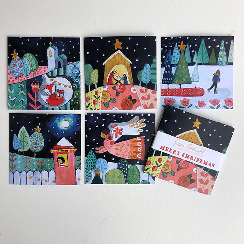 Patterned Christmas Cards (5)