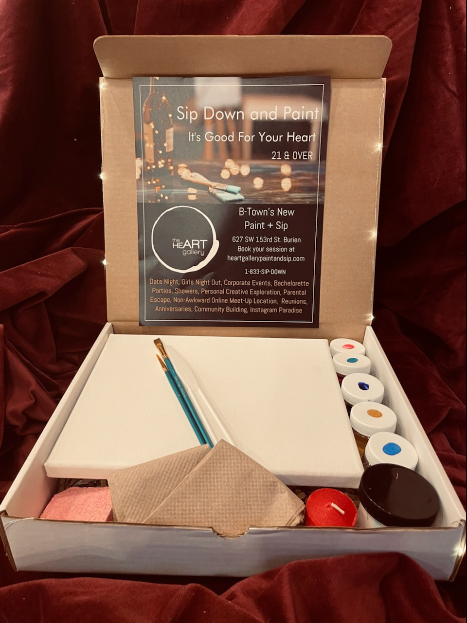 Grab a to-go-kit at The Heart Gallery Paint and Sip in Burien