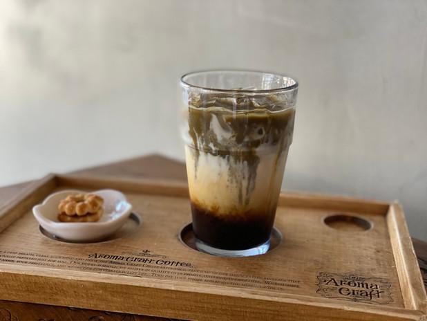 Iced Hojicha Latte