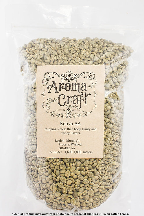 Kenya AA Washed Unroasted Green Beans