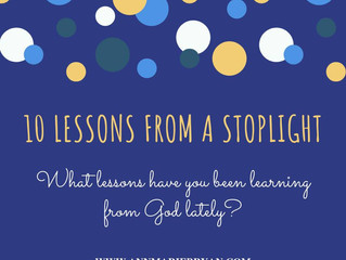 10 Lessons from a stoplight