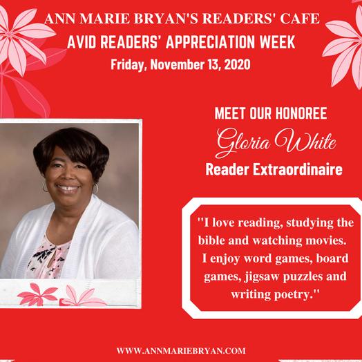 Meet Reader Extraordinaire: Gloria White