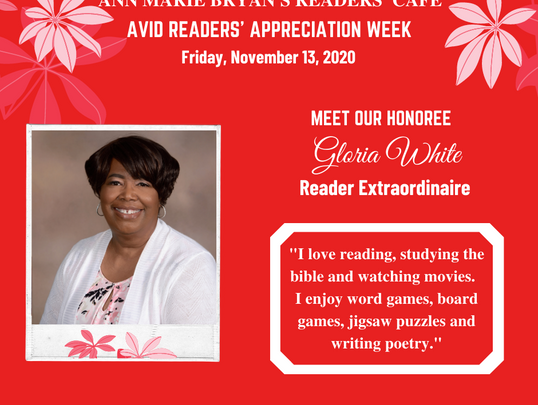 Meet Reader Extraordinaire: Gloria White
