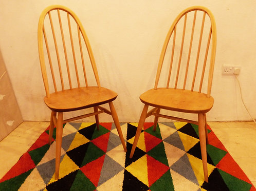 Ercol Windsor (365) Quaker Dining Chair, Light Finish, Blue Label