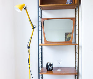 Ercol Ladderax with Reproduction Anglepoise Lamp