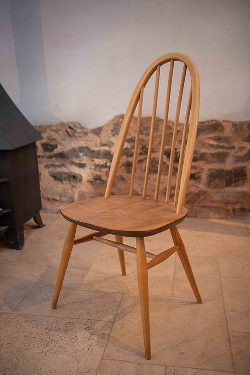 Ercol Windsor (365) Quaker Dining Chair, Light Finish, Blue Label