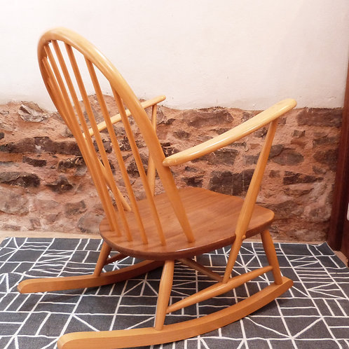 Ercol Windsor (305) Tub Rocking Chair, Light Finish