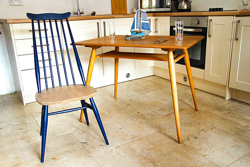 Ercol Windsor (369) Goldsmith Dining Chair, Blue Painted Light Finish