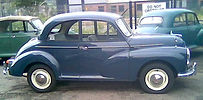 Restored Morris Minor 1000 1964 Trafalgar Blue