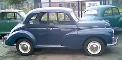 Restored Morris Minor 1000 1964 Trafalgar Blue