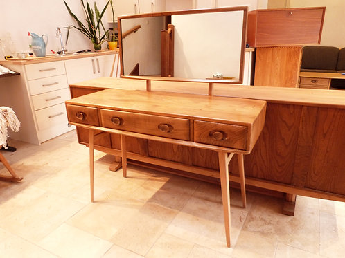 Ercol Windsor (482) Dressing Table with Mirror, Light Finish
