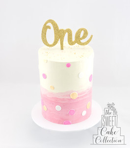 Pink Ombre Buttercream with Spots